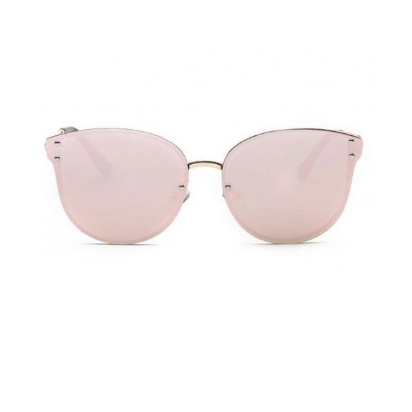 Pink Frameless Mirrored Sunglasses Pink (29 ILS) ❤ liked on Polyvore featuring accessories, eyewear, sunglasses, pink sunglasses, pink glasses, mirror glasses, mirrored glasses and mirror sunglasses