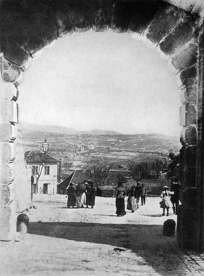 1890 körül. Rózsadomb a Bécsikapun át.
