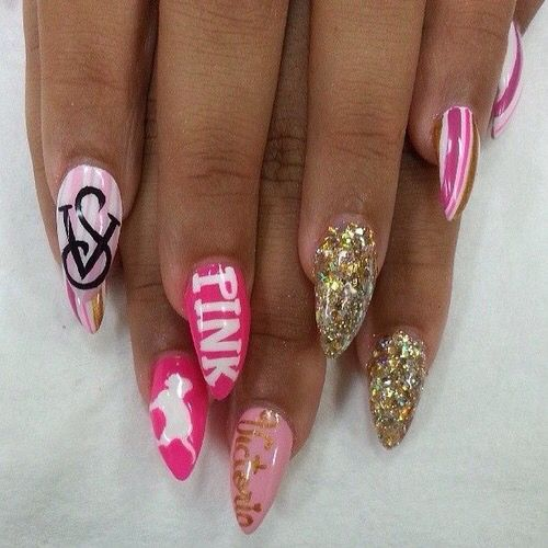 Victoria's Secret Themed Nails
