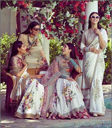 Floral saris from Sabyasachi SS 18 - An Endless Summer.
