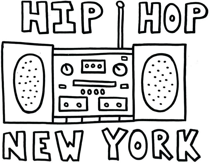 Hip Hop Coloring Sheets Hip Hop Dancer Coloring Pages Hip Hop