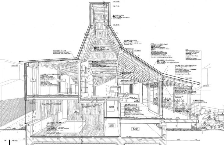 Section through Nora House by Atelier Bow-Wow