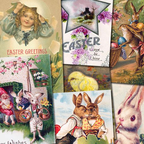 Vintage Easter Images CD Featuring Over 100 Images