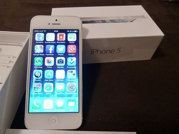 iPhone 5, weiß, 16GB ohne Simlock inkl. Apple Care Protection Plan