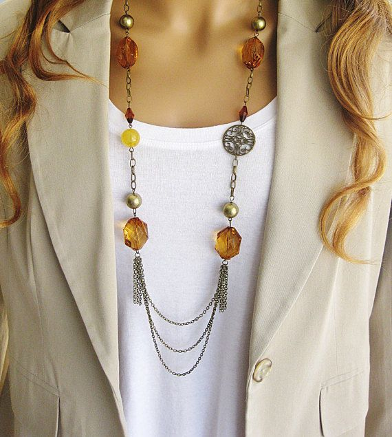 Long+Brown+Beaded+Necklace+Long+Brown+Necklace+by+RalstonOriginals