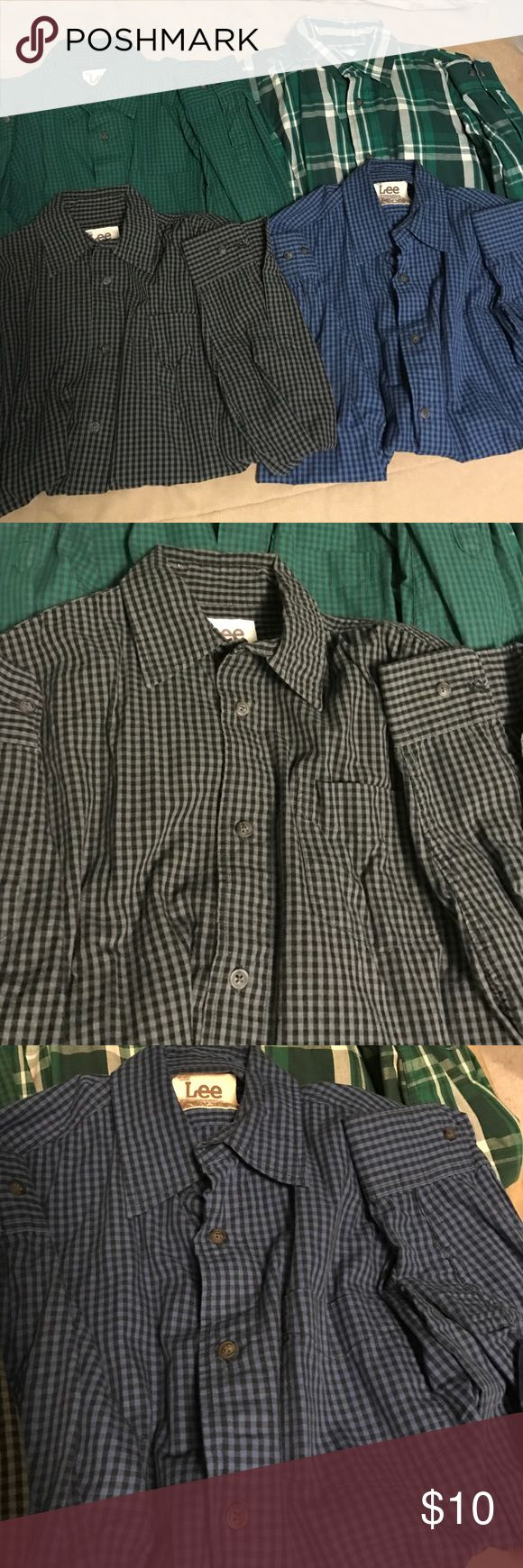 Lee Dungarees Men's Long Sleeve Button Down Shirts 4 Lee Dungarees Button Down Shirts, Men size  Small. Good condition, only worn a couple times. Lee Shirts Casual Button Down Shirts