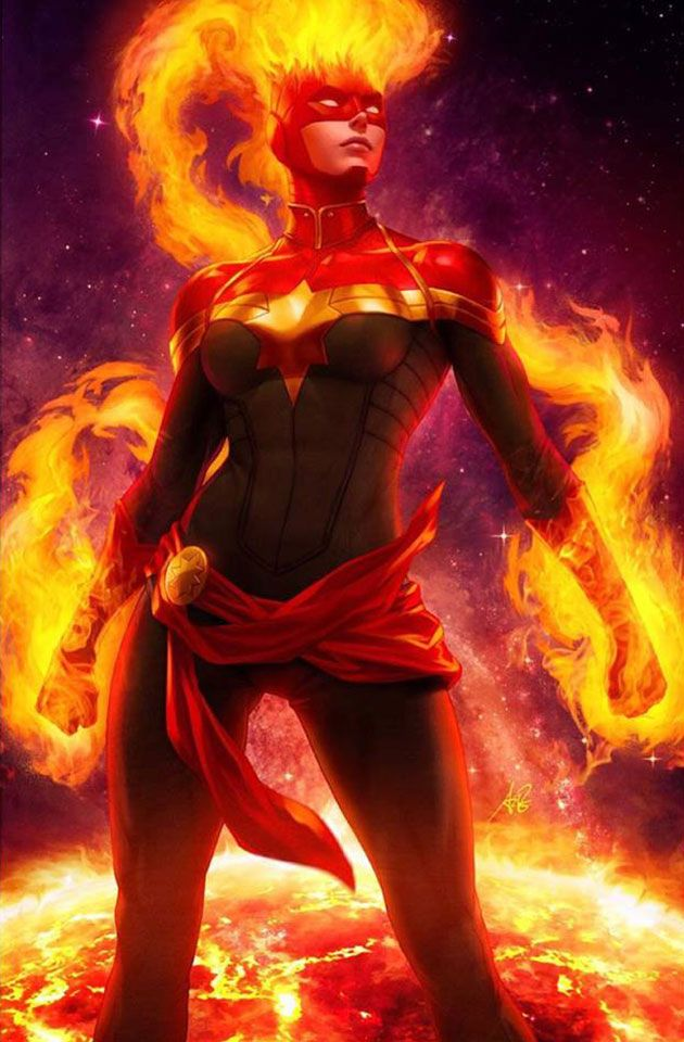 Captain Marvel #1 (2019) – Artgerm Collectibles Stanley Artgerm Variant Cover B