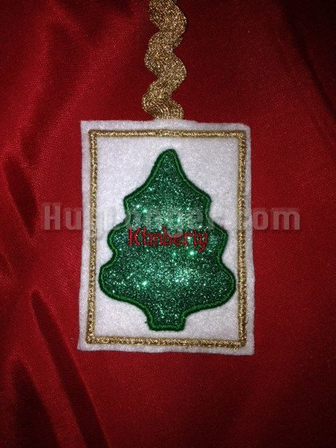 In The Hoop Christmas Tree Gift Card Holder Applique Tree