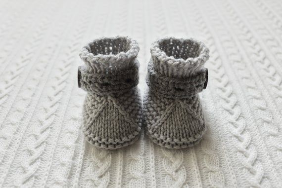 Crib Shoes Gray baby shoes baby boy booties newborn baby gift knitted booties Soft Baby Booties Working Coconut Button Newborn Baby Booties