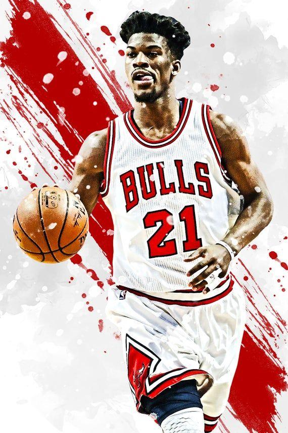 Jimmy Butler Chicago Bulls Poster Print Sports Art Etsy In 2020 Chicago Bulls Wallpaper Chicago Bulls Sports Art