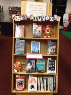Book Potatoes - These S-mashing books have been vegetating on the shelves for far too long - check out our latest display in Haverhill Library Suffolk