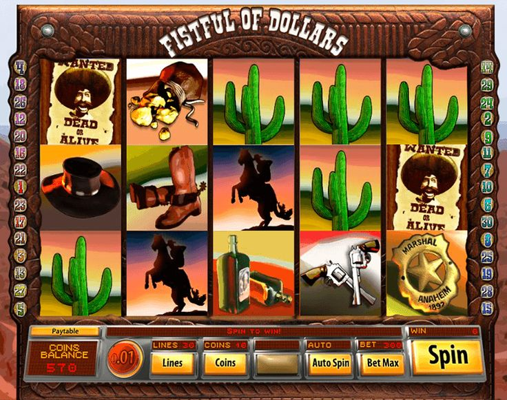 Fistful Of Dollars free #slot_machine #game presented by www.Slotozilla.com - World's biggest source of #free_slots where you can play slots for fun, free of charge, instantly online (no download or registration required) . So, spin some reels at Slotozilla! Fistful Of Dollars slots direct link: http://www.slotozilla.com/free-slots/fistful-dollars