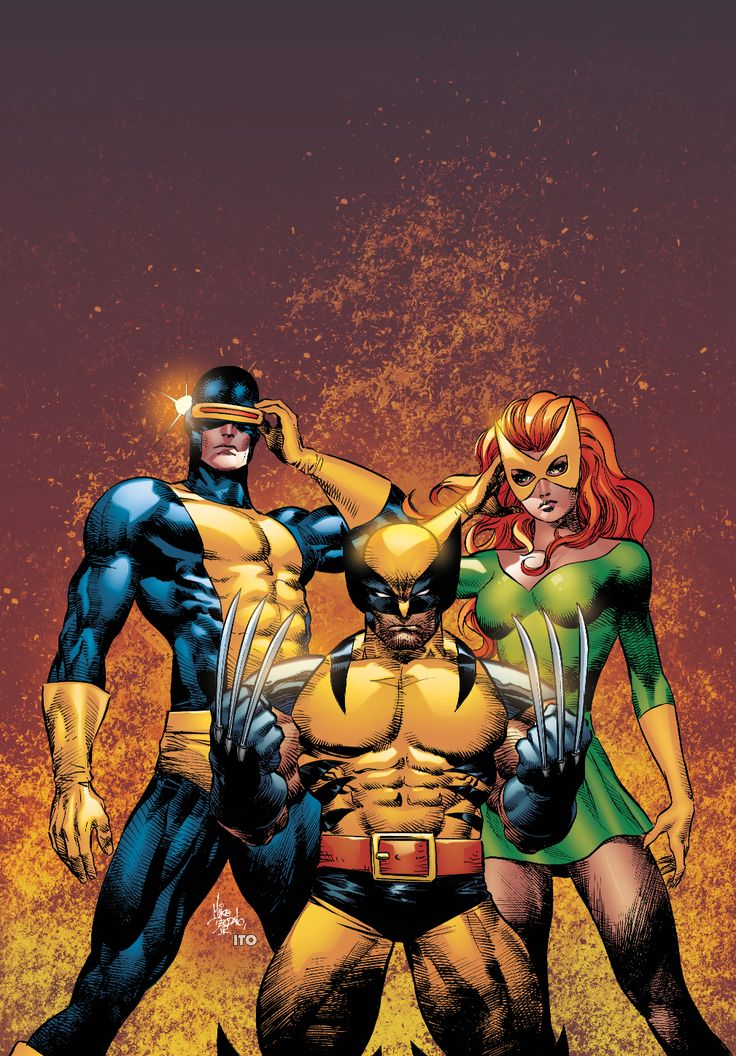 Cyclops, Jean Grey, & Wolverie by Mike Deodato Jr., colors by @Leonardo Rodrigues Rodrigues Rodrigues Ito