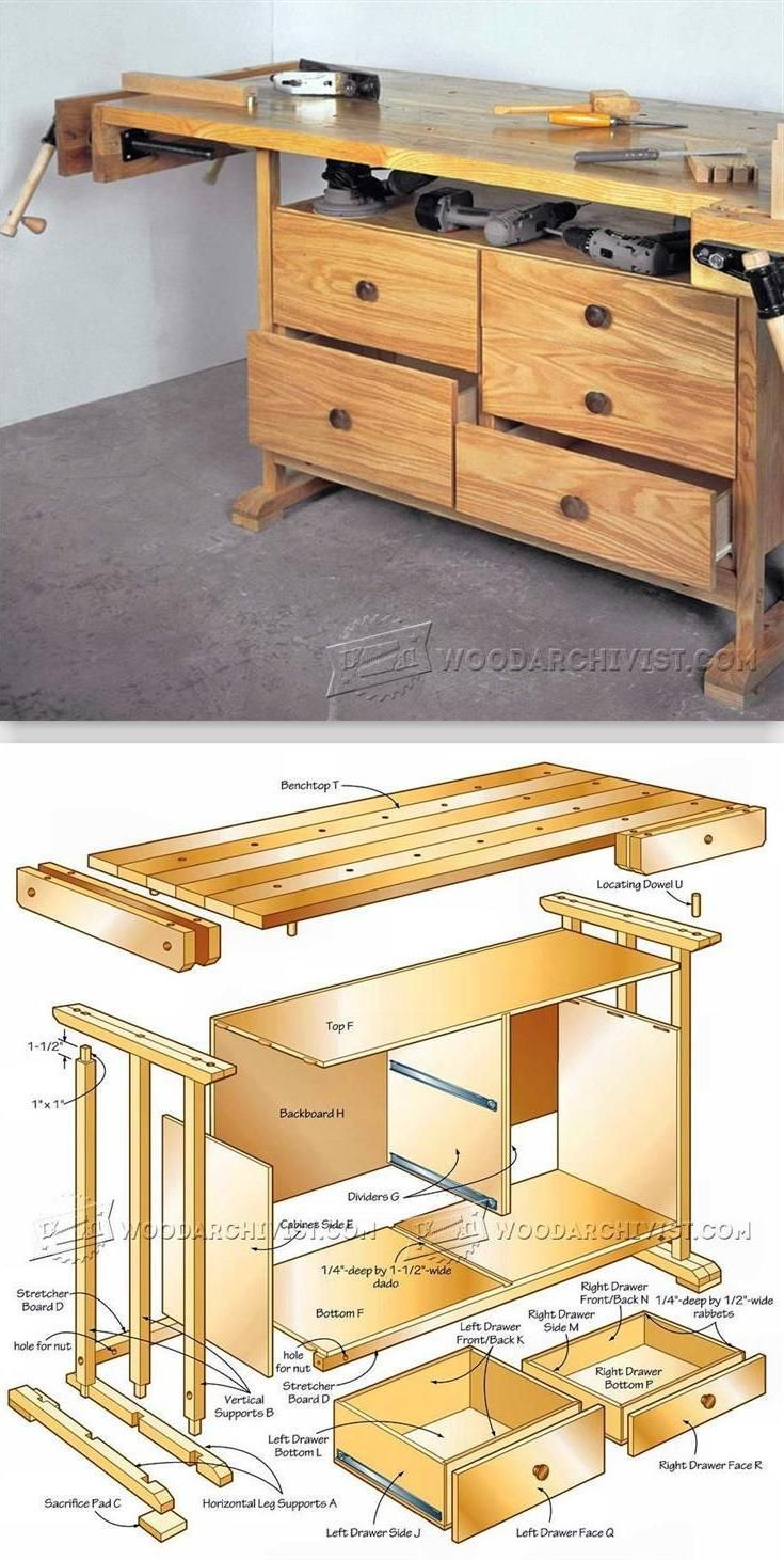 Practical Workbench Plans - Workshop Solutions Plans, Tips and Tricks | WoodArchivist.com