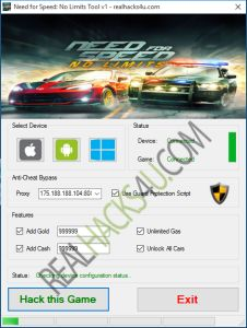 Need for Speed No Limits Hack Cheat 2