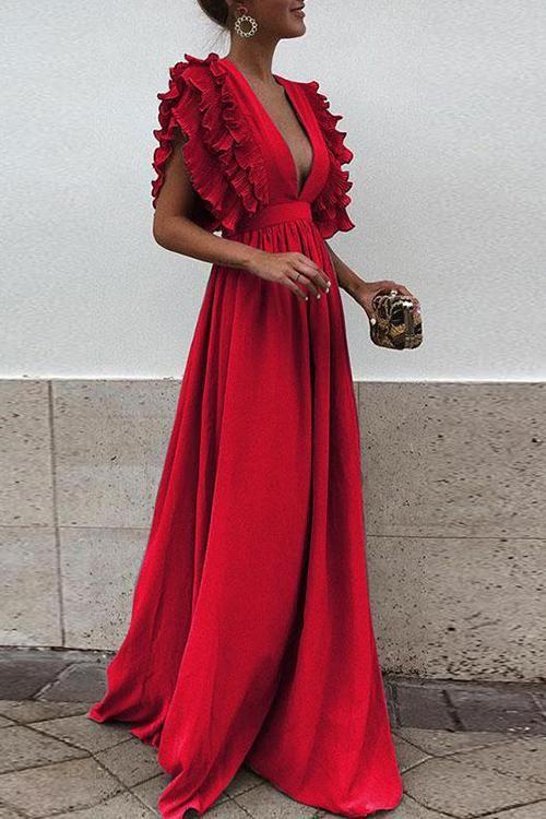 Vine and Dandy Elegant Maxi Dress – 6 Colors