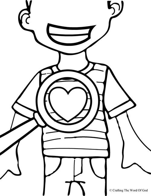 God Searches Our Hearts- Coloring Page