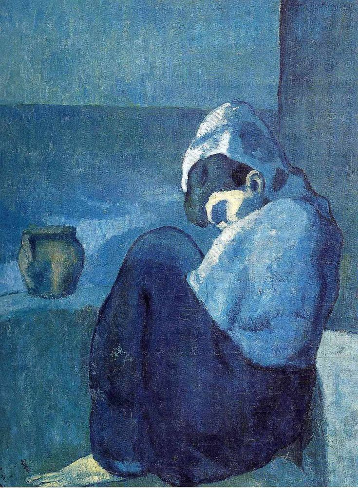 Crouching woman, 1902, Pablo Picasso Medium: oil on canvas