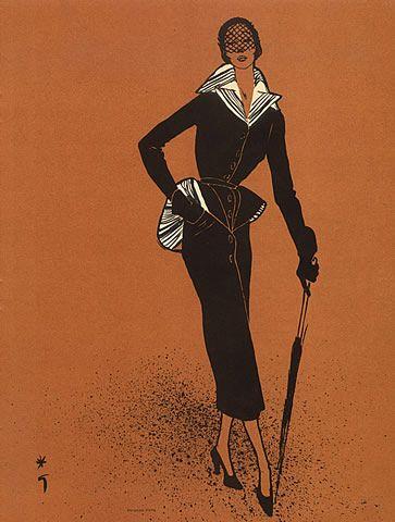 Jacques Fath 1949 René Gruau, Fashion Illustration