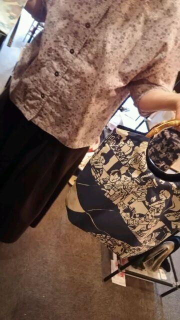 六方オリジナル手ぬぐい鴨川志野作縁日のバッグ