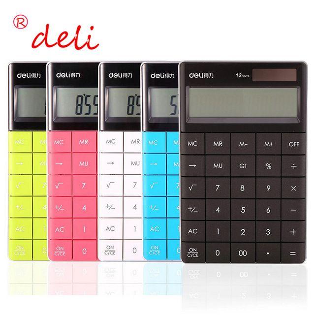 Новый Бренд Красочные Мини-Калькулятор с Большими Кнопками 12 Цифровой Калькулятор