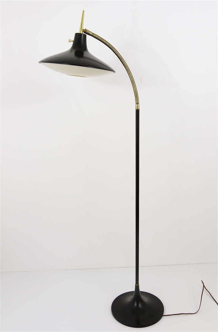 76 best vintage lamps lighting images on pinterest lamp light black modernist floor lamp b 683 by laurel 1950s geotapseo Images