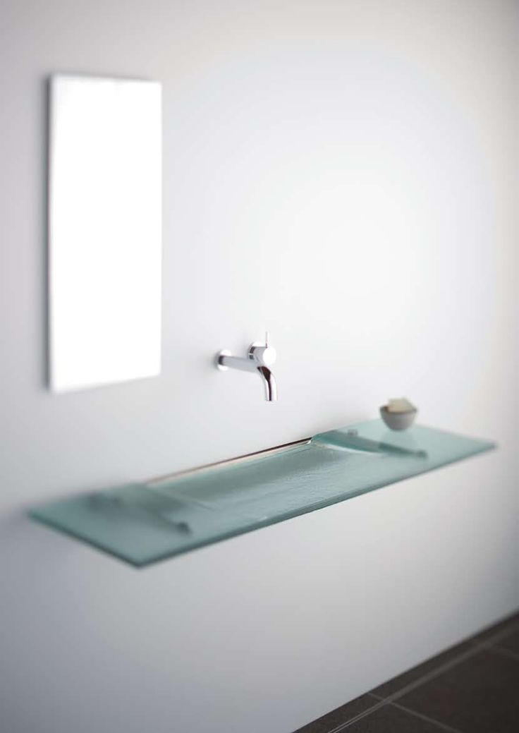 Very Slim Glass Bathroom Sink  Linea Washplane Seafoam Glass By .