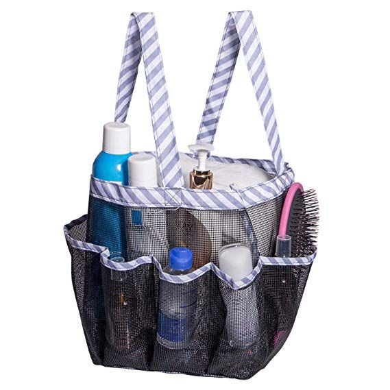 Amazon Com Attmu Mesh Shower Caddy Quick Dry Shower Tote Bag Oxford Hanging Toiletry And Bath Organizer With 8 Stor Shower Caddy Bath Organization Toiletries