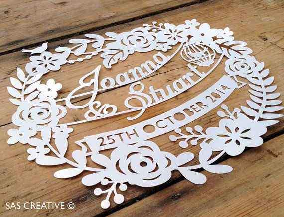 Papercut Template for Wedding Day / First by SASCreative on Etsy