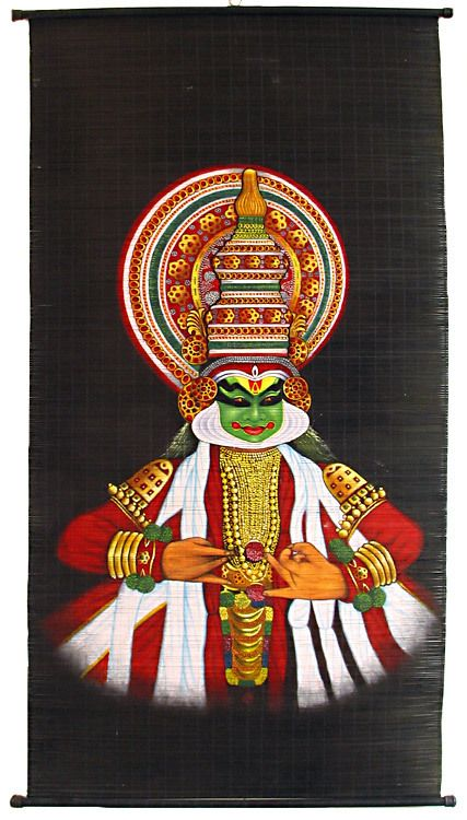 Kathakali Dancer - (Wall Hanging) (Painting on Woven ...