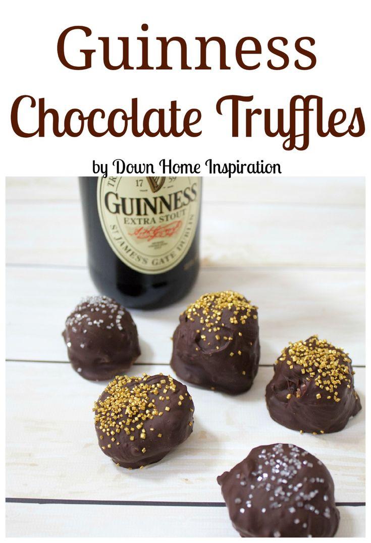 Guinness Chocolate Truffles - Down Home Inspiration