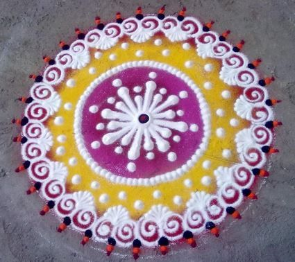 how to draw sanskar bharti rangoli by hand