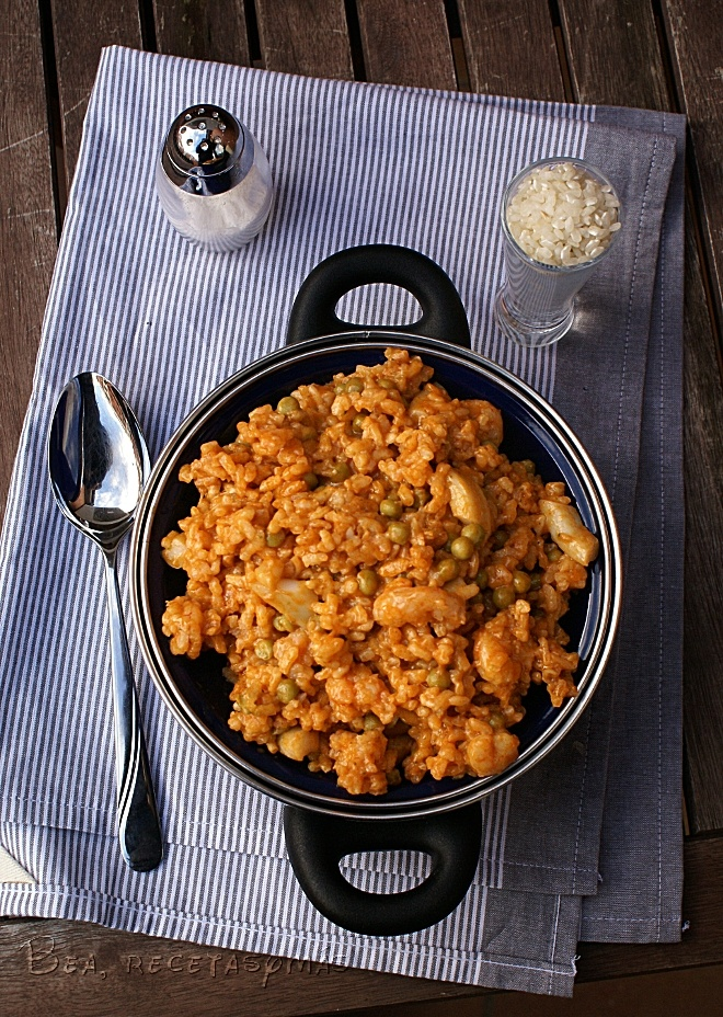 Arroz con calamares y gambas (TMX)   Recetas de cocina fáciles y sencillas   Bea, Recetas y más
