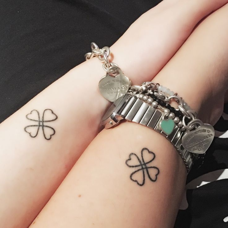 Friendship tattoo me and My bestfriend love lucky four-leaf clover