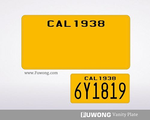 California personalized license plate for sale of metal pressed type plates