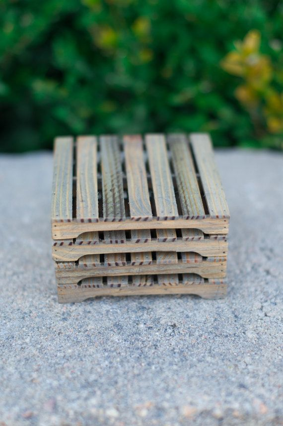 Wooden Coaster Mini Pallet by TwigsAndTreen on Etsy