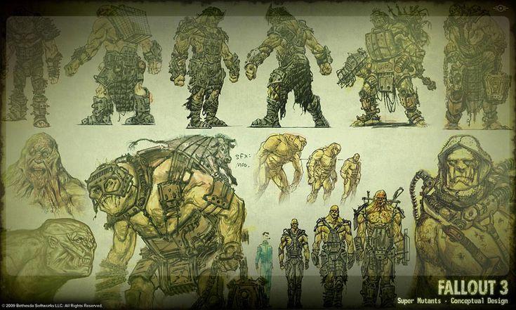 Fallout 3 mutant design.