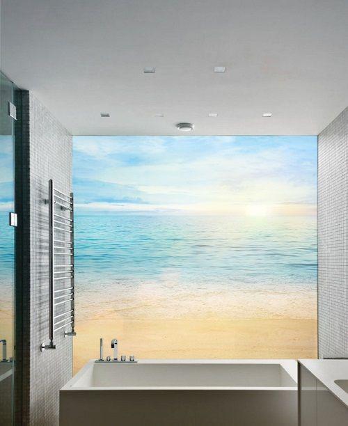 Fototapeta w łazience ze słoneczną plażą