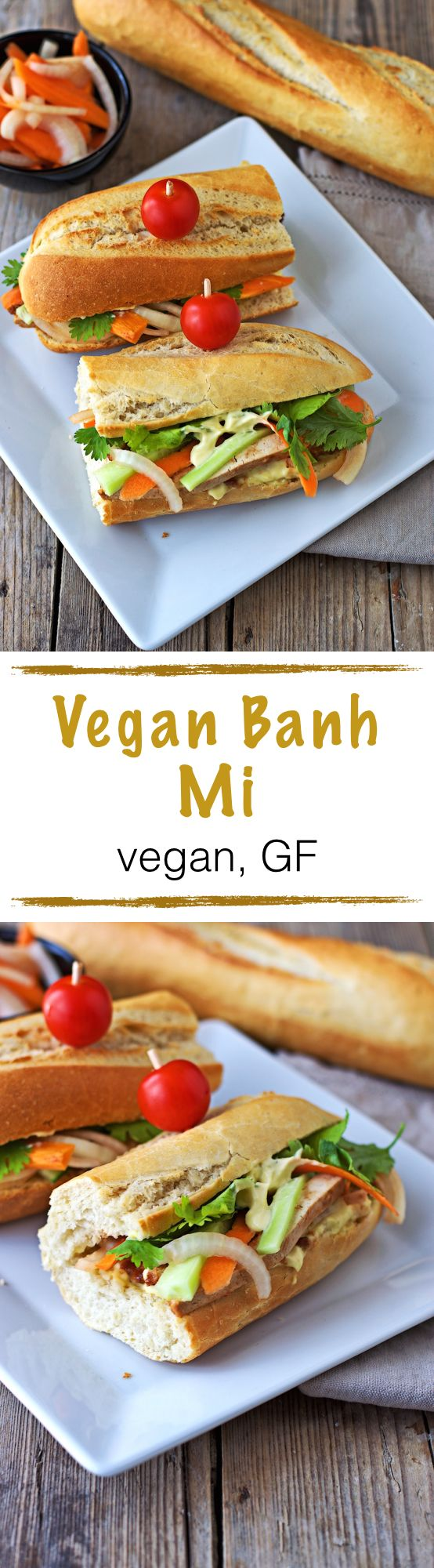 This #Vegan Banh Mi is a fresh and satisfying lunch option for people who like their fresh #glutenfree bread with a load of pickled vegetables and spicy flavors. Good to go in little time. Check it out!