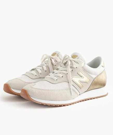 Best For: Athleisure | New Balance borrows sole padding technology from their running shoes for their fashion-staple 620 sneakers. This J.Crew collaboration pair has a soft mesh and suede upper and trendy gold accents.