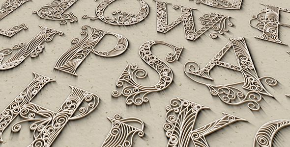 After Effects Project Files - Quilling Cap Letters | VideoHive