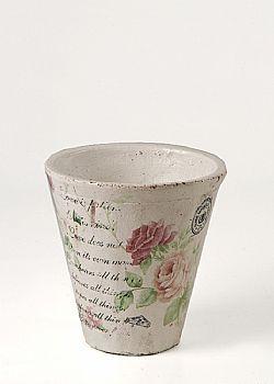 DCSE - Deco pot with planters design.Floral vintage garden decoration