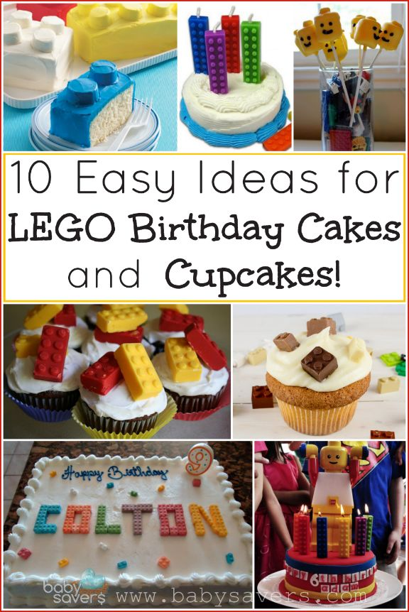 10 easy LEGO cake and cupcake ideas with tutorials!