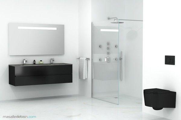 Salle de bain modern black & white sur @decocrush