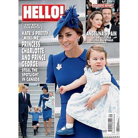 Have you picked up the new issue of HELLO! yet? It features stunning photos from the royal tour as Prince William and Kate explore Canada with their children, as well as an exclusive report on Angelina Jolie's pain as she files for divorce from Brad Pitt... Pick up the new issue on sale now! . . . #royaltour #williamandkate #angelinajolie #bradpitt #celebrities #newissue