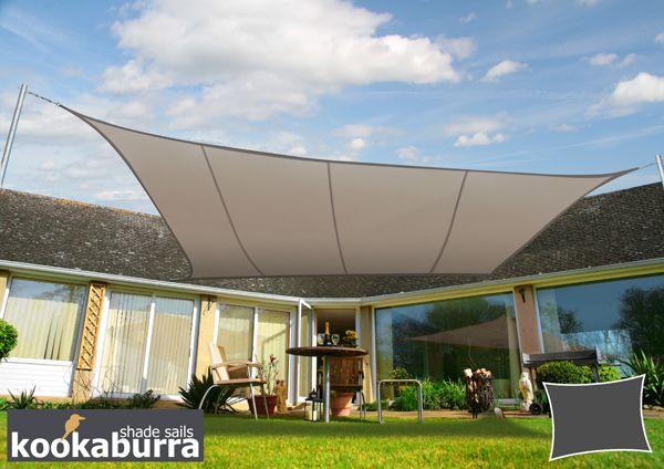 Kookaburra 4mx3m Rectangle Mushroom Waterproof Woven Shade Sail