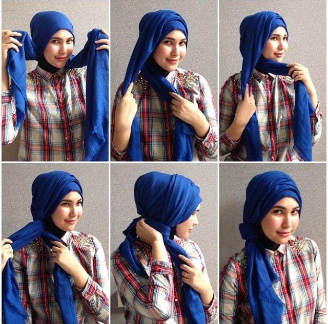 Super 115 best Hijab Tutorial images on Pinterest | Hijab styles, Hijab  VW71