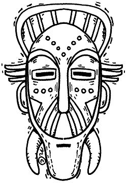 african tribal mask coloring pages - photo#2