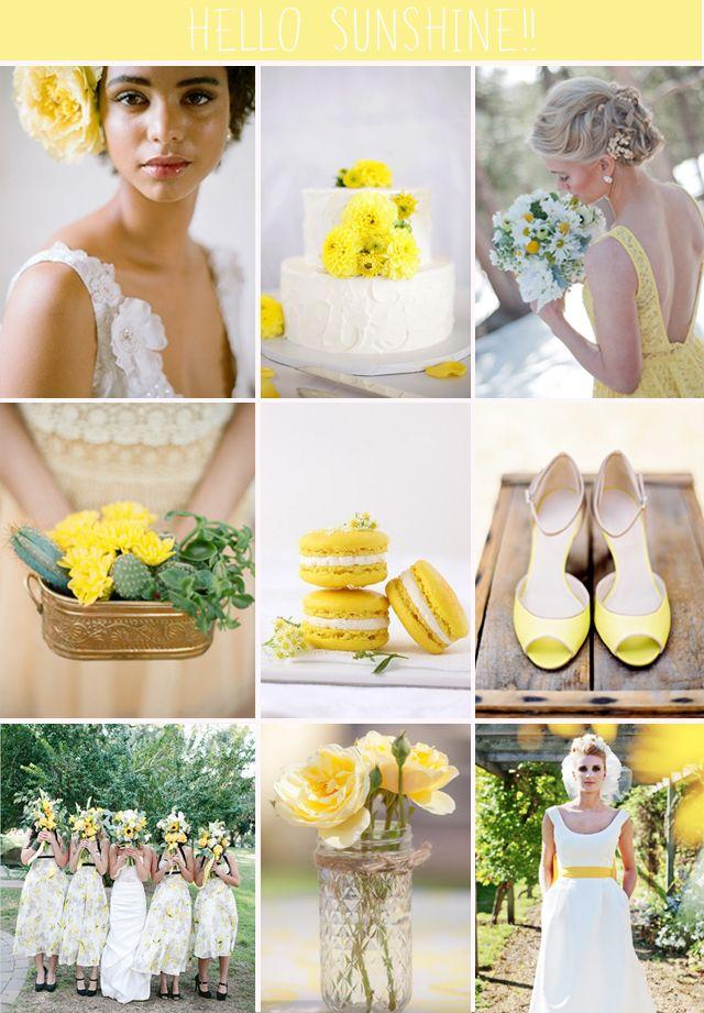 Hello Sunshine | Yellow Wedding Inspiration Board from Want That Wedding | Unique Wedding Ideas & Inspiration Blog
