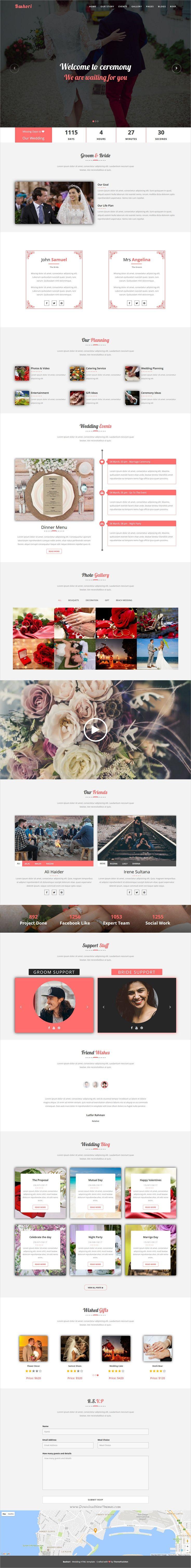 wedding invitation template themeforest%0A Bashori  Wedding HTML Template